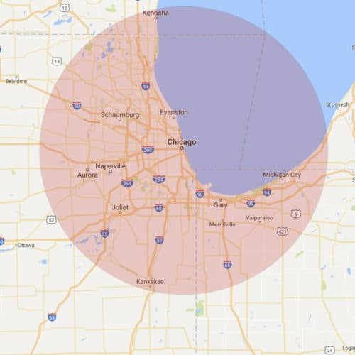 Chicago ATM Services Area
